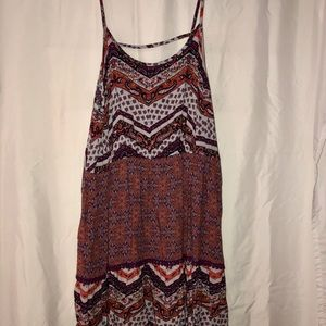 Boho spaghetti trapeze dress
